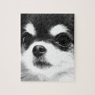 A black and white Chihuahua Jigsaw Puzzle