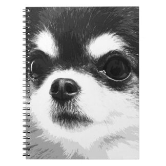A black and white Chihuahua Notebook