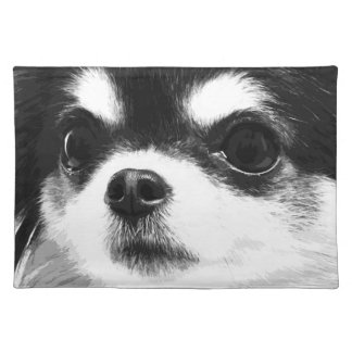 A black and white Chihuahua Placemat