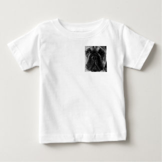 A black and white French bulldog Baby T-Shirt