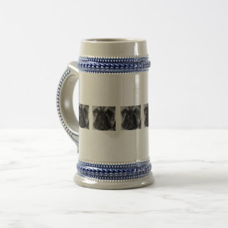 A black and white French bulldog Beer Stein
