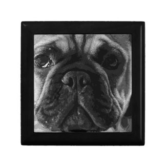 A black and white French bulldog Gift Box