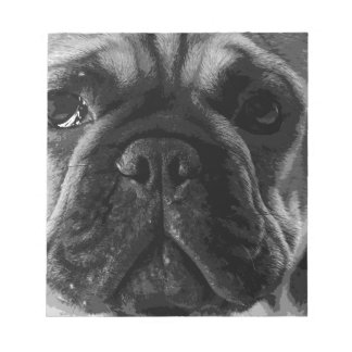 A black and white French bulldog Notepad