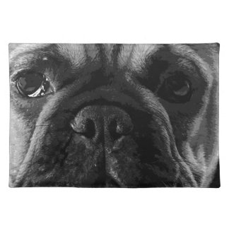 A black and white French bulldog Placemat