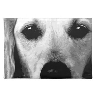 A black and white Golden retriever Placemat