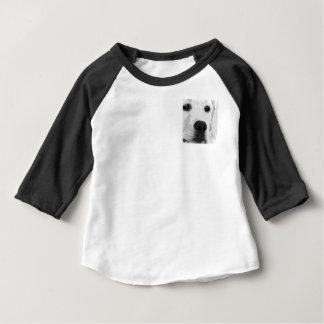 A black and white Labrador retriever Baby T-Shirt