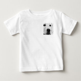 A black and white Labrador retriever Baby T-Shirt