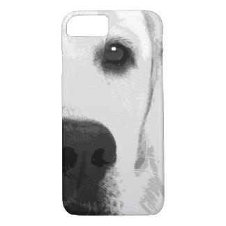 A black and white Labrador retriever iPhone 8/7 Case