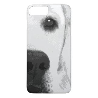A black and white Labrador retriever iPhone 8 Plus/7 Plus Case