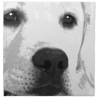 A black and white Labrador retriever Napkin