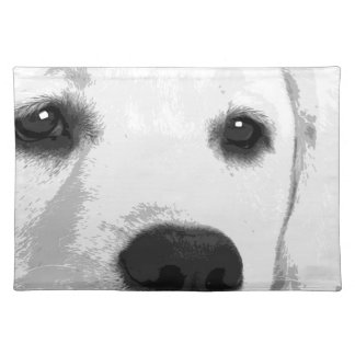 A black and white Labrador retriever Placemat