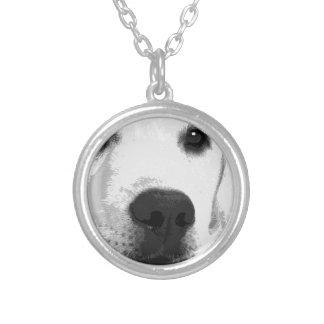 A black and white Labrador retriever Silver Plated Necklace