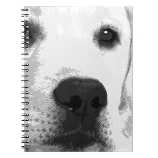 A black and white Labrador retriever Spiral Notebook