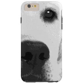 A black and white Labrador retriever Tough iPhone 6 Plus Case