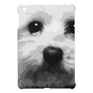 A black and white Maltese Cover For The iPad Mini