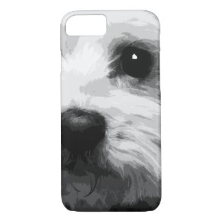 A black and white Maltese iPhone 8/7 Case