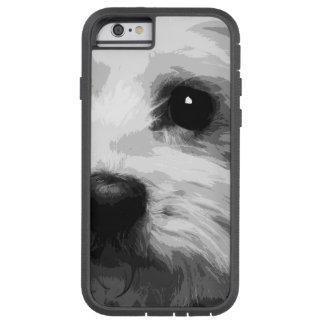 A black and white Maltese Tough Xtreme iPhone 6 Case