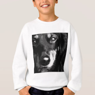 A black and white Miniature Dachshund Sweatshirt