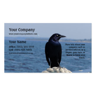 A Black Bird on the Ferry Pack Of Standard Business Cards