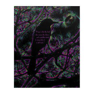 A Black Bird with a Trippy Electric Edit Acrylic Print