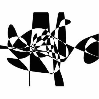 A Black Fish Photo Sculpture Decoration