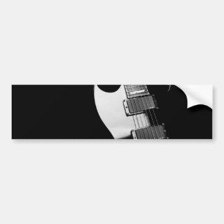A black Guitar Bumper Sticker