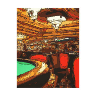 A Black Jack Table in the heart of a Vegas Casino Gallery Wrap Canvas