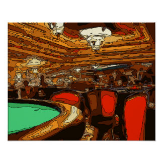 A Black Jack Table in the heart of a Vegas Casino Print
