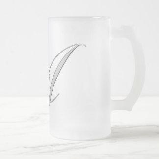 """""""A"""" (Black) Official Mug..! Frosted Glass Beer Mug"""