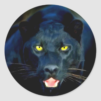 A Black Panther Classic Round Sticker