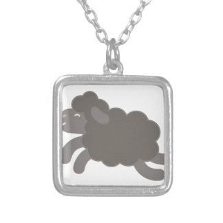 A Black Sheep Silver Plated Necklace