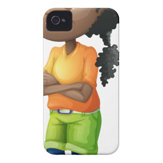 A Black teenager iPhone 4 Case-Mate Case