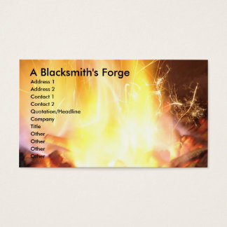 A Blacksmith's Forge Business Card