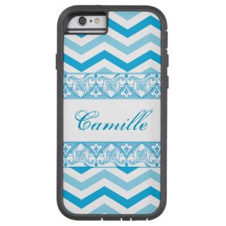 A blue zi zag chevron patterned case. tough xtreme iPhone 6 case