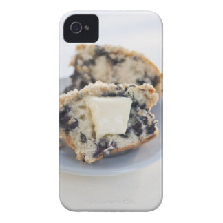 A blueberry muffin with butter iPhone 4 Case-Mate cases