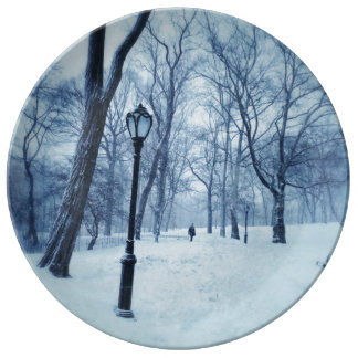 A Blustery Walk In The Park Porcelain Plates