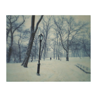A Blustery Walk In The Park Wood Print