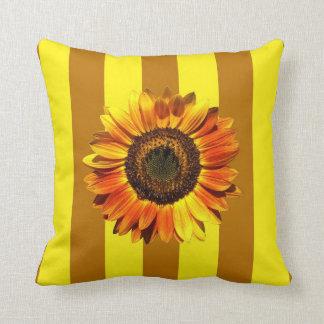A Bold Autumn Beauty Sunflower Throw Cushion