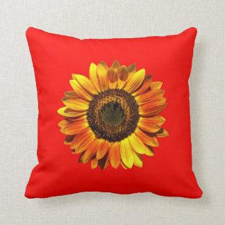 A Bold Autumn Beauty Sunflower Throw Cushions
