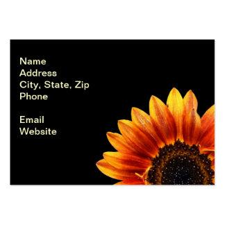 A Bold Sunflower Business Card Template