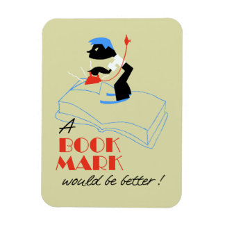A bookmark would be better retro style magnet