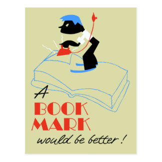 A bookmark would be better retro style postcard