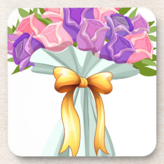 A boquet of blooming flowers coaster