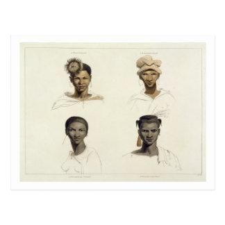 A Bosjeman, a Bosjeswoman, a Booshuana Woman, a Bo Postcard