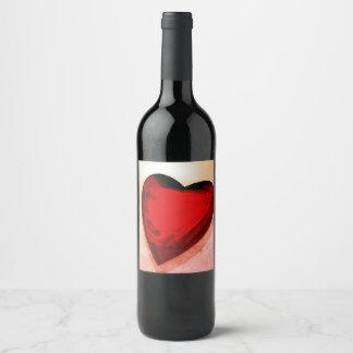 A bottle of wine wine label
