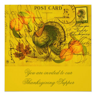 A Bountiful Thanksgiving 13 Cm X 13 Cm Square Invitation Card