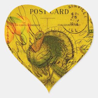 A Bountiful Thanksgiving Heart Sticker