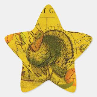 A Bountiful Thanksgiving Star Sticker