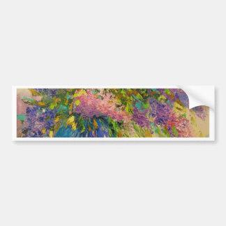 A bouquet of lilacs bumper sticker