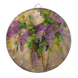 A bouquet of lilacs dartboard